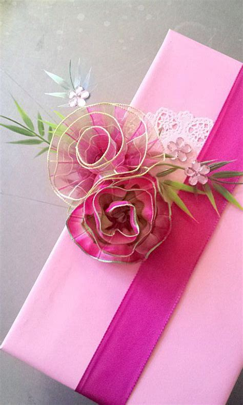 Paper Ribbon Flower - 376 best images about a gift wrapping wrap present