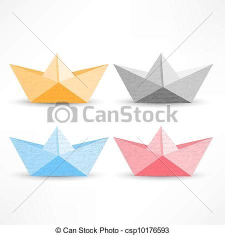 origami boat clipart vecteurs eps de bleu papier jaune blanc origami