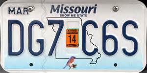 Missouri Vanity Plates by Missouri 2 Y2k