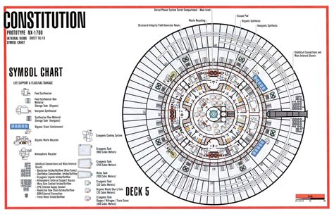 uss enterprise floor plan deck 5 schematic from tos u s s enterprise ncc 1701