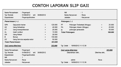 contoh contoh form slip gaji bulanan karyawan swasta tipstriksib