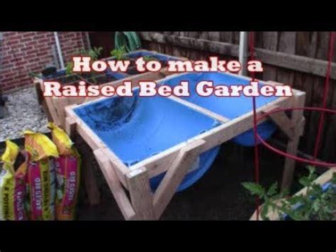 build  barrel raise bed garden youtube