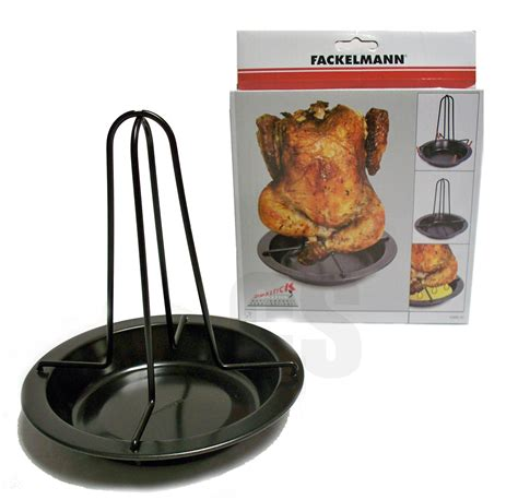 Chicken Rack by Fackelmann Chicken Roasting Roaster Rack Tin Tray 17cm
