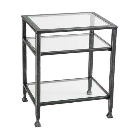 what to do with end tables amazon com sei bunching metal end table glass side table