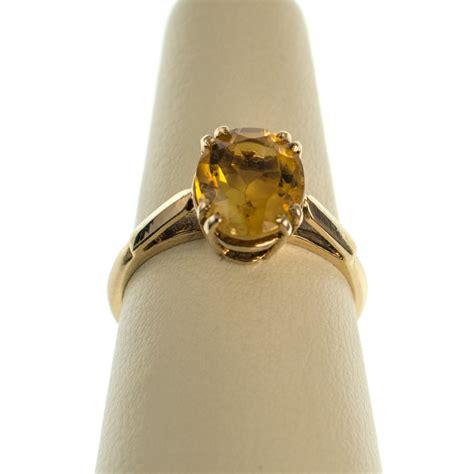 antiques atlas fabulous vintage citrine ring 9ct gold