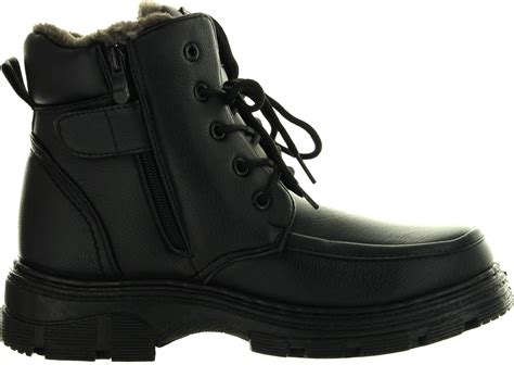 mens winter boots mens winter boots ankle fashion lace up fur lined