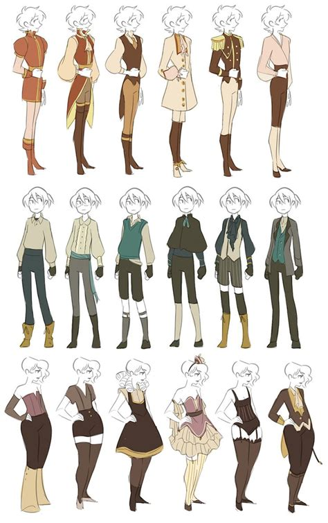 themes for character design wardrobe by miraongchua deviantart com on deviantart