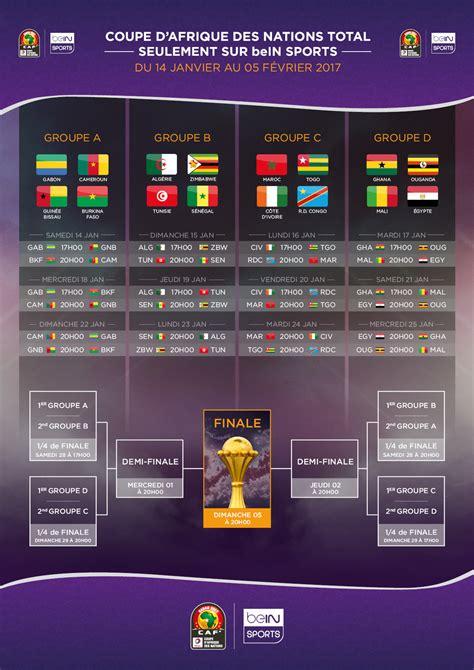 Coupe De Calendrier Le Calendrier De La Coupe D Afrique Des Nations Total