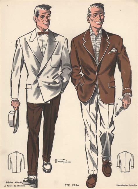 1950s fashion men and women summer fashion for men vintage print 1950s