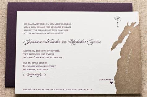 nick s letterpress map wedding invitations
