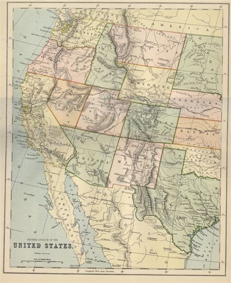 map of western us hipkiss scans of maps from the william mackenzie gallery of geography book