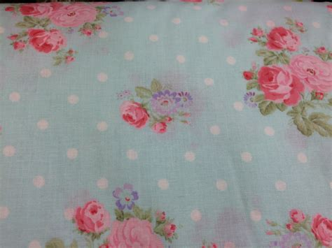 light blue shabby chic style floral fabric rose fabric