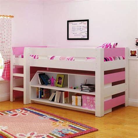 Lollipop Mid Sleeper Bed by Buy Seconique Lollipop Mid Sleeper Bunk Bed White Pink From Our Mid High Sleepers Range
