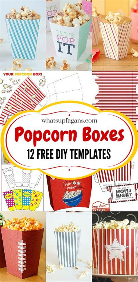 popcorn box templates  family  night