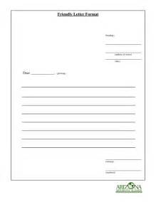 Format For A Friendly Letter Template Friendly Letter Format How To Write A Friendly Letter