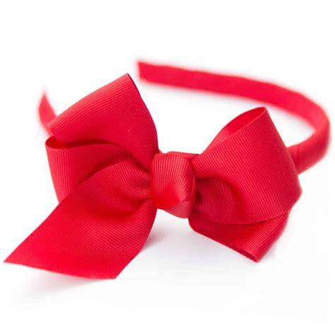 Headband Bow medium headband with classic large grosgrain hair bow