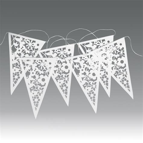 Lace Wedding Banner by Dotcomgiftshop Paper Bunting White Lace Wedding Garland
