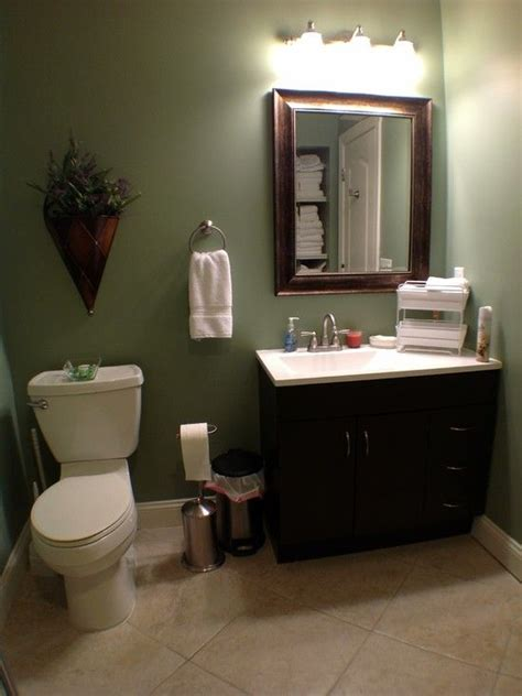 green and brown bathroom decorating ideas bathrooms tiled white vanity sage green walls basement