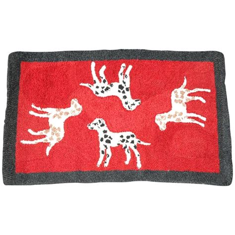 dogs rug 1920s hooked and mounted pictoral dogs rug for sale at 1stdibs