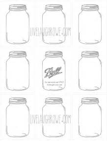 mason jars for printing and crafting with livelaughrowe com