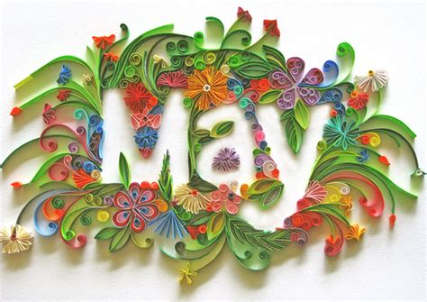 typography quilling new talent sabeena karnik quilling typography 187 illustration