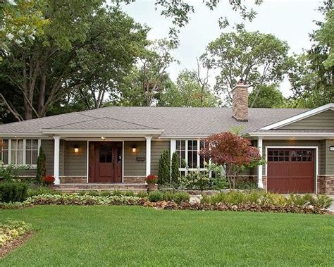complete remodel    red brick ranch house