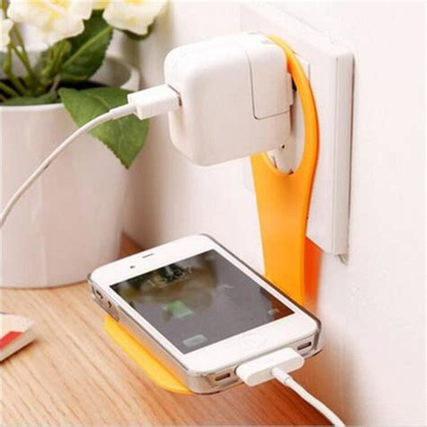 Dudukan Charging Smartphone Wall Adapter Charger Stand Limited folding mobile cell phone holder wall charger hanger phone charger holder bracket stands for