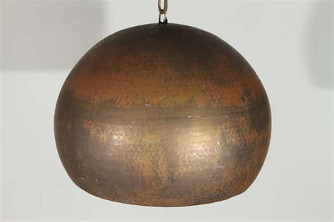 Hammered Copper Pendant Lights Modernist Mid Century Copper Hammered Pendant L At 1stdibs