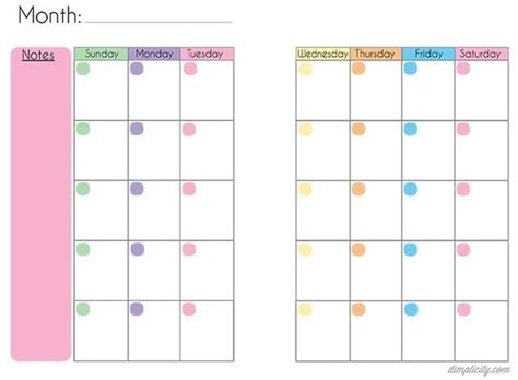 mini calendar template budget binder calendar and mini binder on