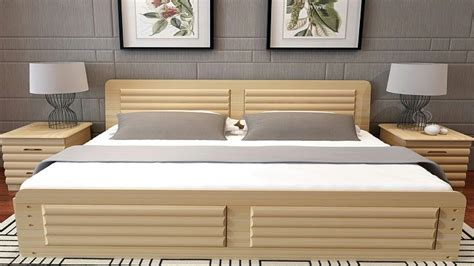 latest simple  classic wooden bed designs