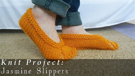 how to make knitted slippers slippers easy knit viyoutube