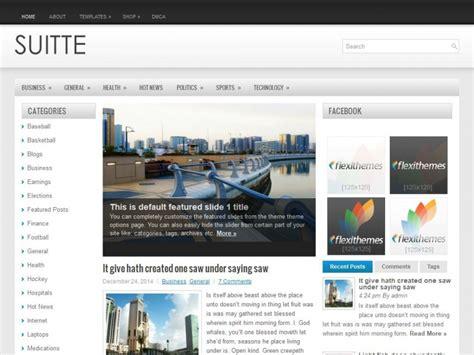 wordpress themes live demo suitte a free general blog wordpress theme by flexithemes