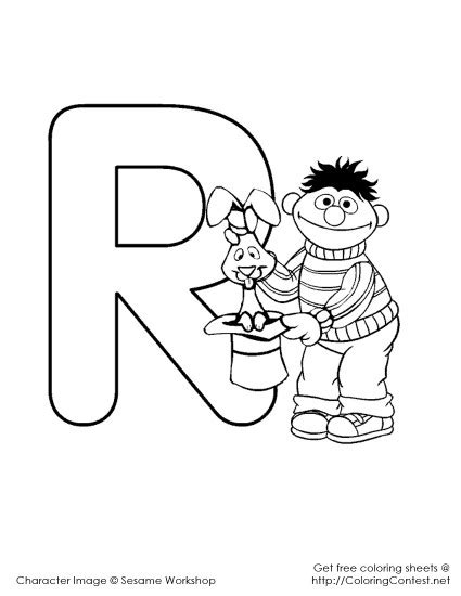 Sesame Street Alphabet Coloring Pages R 425x550 Fd Sesame Alphabet Coloring Pages