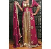 Caftan Mariage Sari Indien Haute Couture Vert Pour