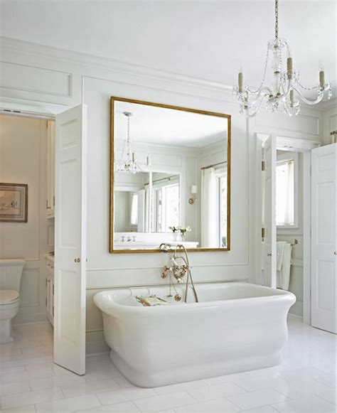 bathroom wall trim mirror above bathtub transitional bathroom cynthia