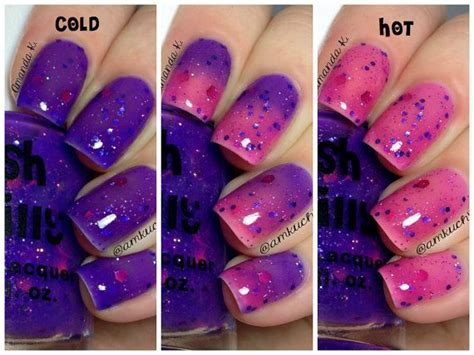 color changing nail in water grape intentions color changing thermal nail