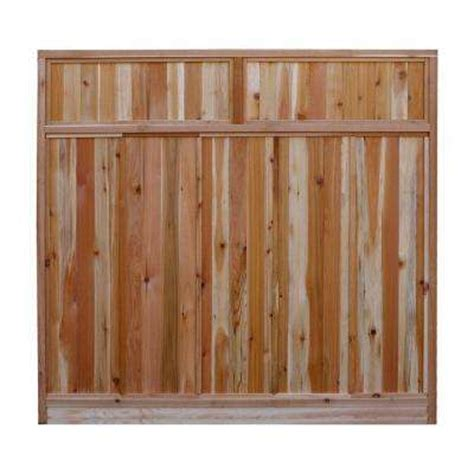 wood fence panels wood fencing the home depot