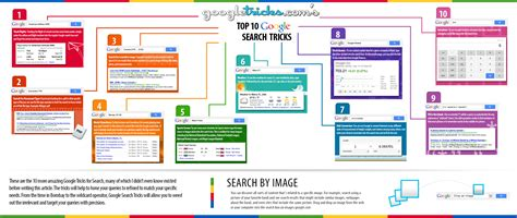 Top For Search Infographic Top 10 Search Tricks Tricks