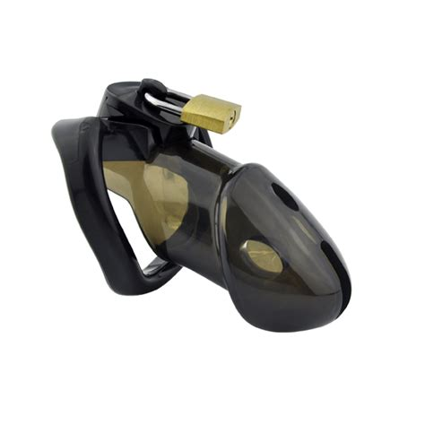male chastity new black plastic male chastity device cock cage with 3