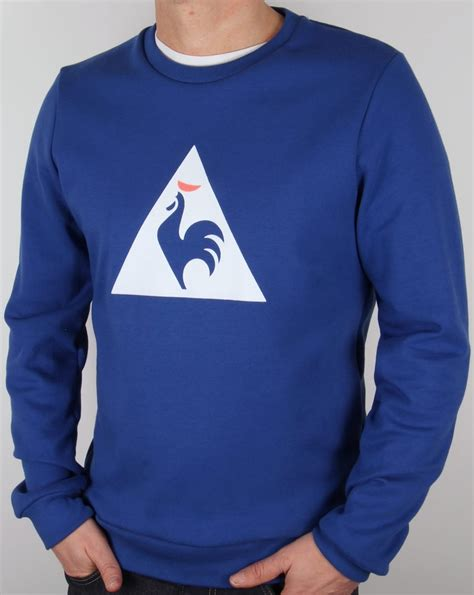 Hoodie Sweater Vespa Front Logo le coq sportif coq logo sweatshirt royal blue jumper