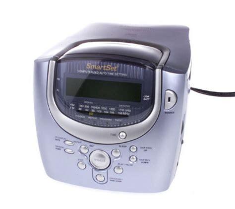 emerson smartset clock radio w cd player dual alarm qvc