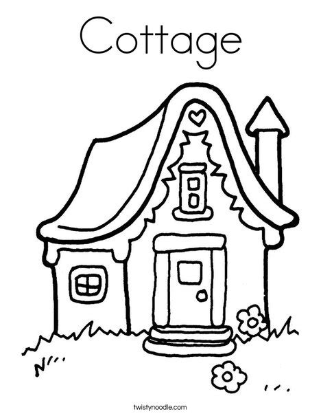 cottage house coloring pages cottage coloring page twisty noodle
