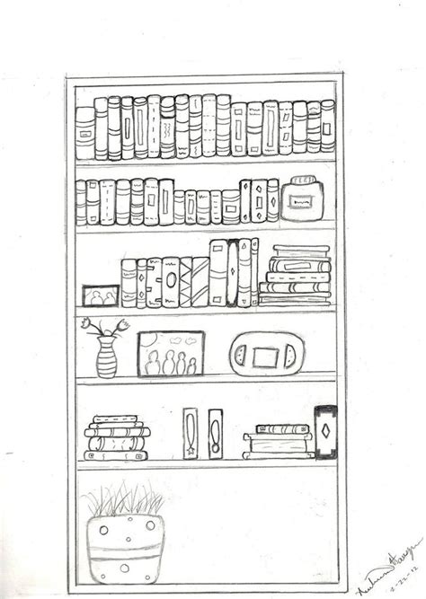 how to draw books on a shelf search its in a