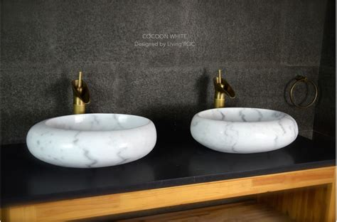 Granite Dining Room Tables by 500mm Oval White Marble Stone Wet Room Wash Basin Sink