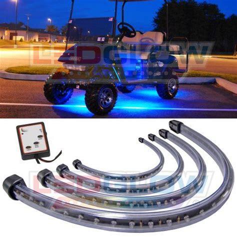 golf cart underbody lights 4pc blue led golf cart underbody underglow light kit