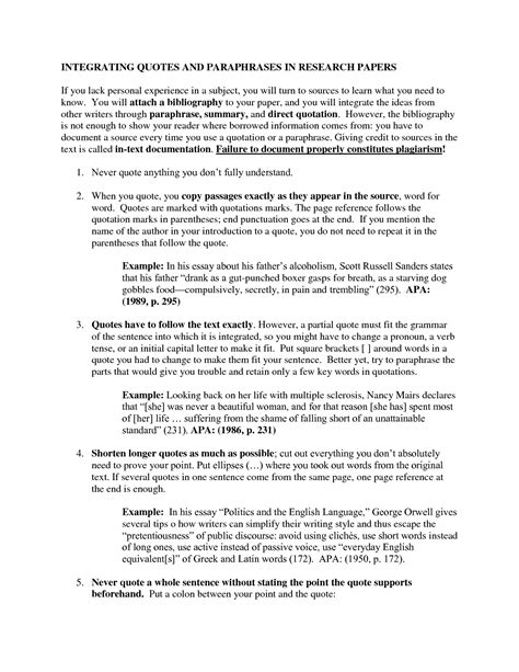 quotations in research papers integrating quotes mla format quotesgram