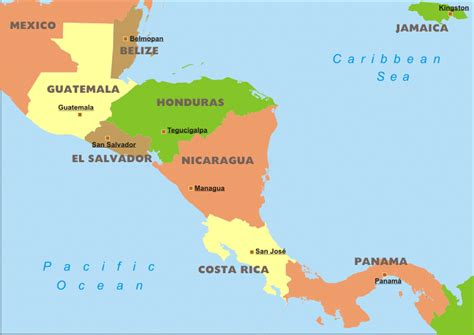 central america the caribbean map maps central american and the caribbean