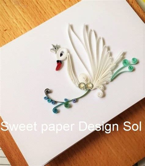 quilling swan tutorial pinterest the world s catalog of ideas