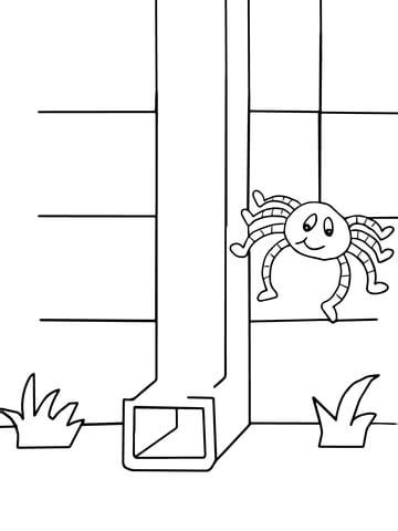coloring page of water spout itsy bitsy spider coloring page free printable coloring