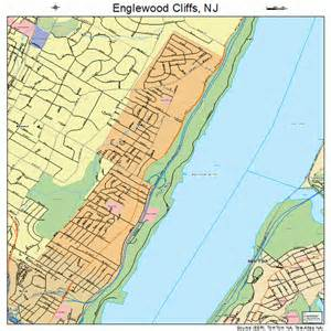 Englewood Nj Englewood Cliffs New Jersey Map 3421510